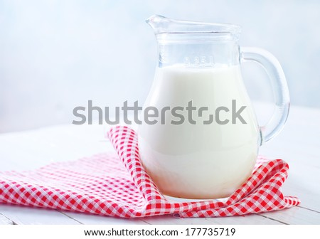 milk in jug - stock photo