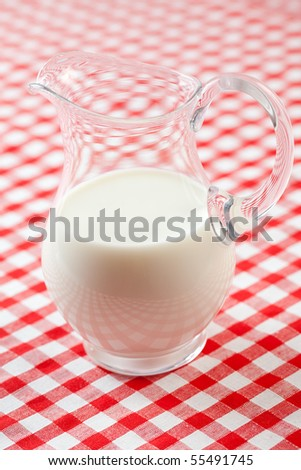 milk in pitcher - stock photo
