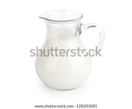 Milk Isolated on white background - stock photo