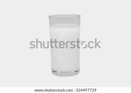 milk isolated white background