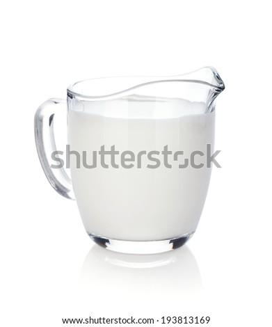 Milk jug. Isolated on white background - stock photo