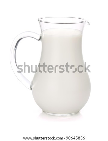 Milk jug. Isolated on white background