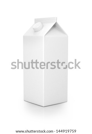 Milk pack isolated on white - stock photo