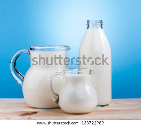 Milk products - stock photo