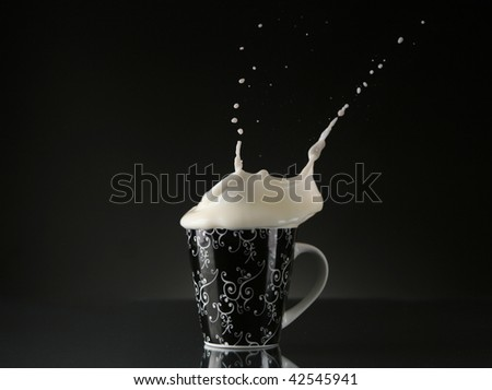 milk splash - stock photo