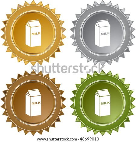 Milk web button isolated on a background. - stock photo