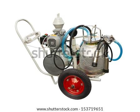 Milking machine - stock photo