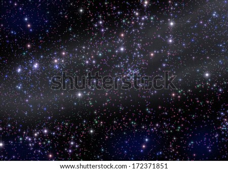 Milky Way and thousands colorful stars in deep space. - stock photo