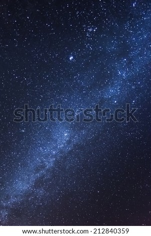 Milky Way as seen above Teide National Park at Tenerife