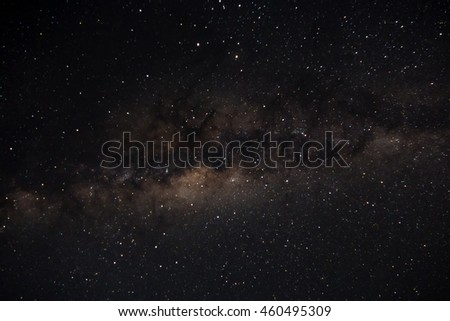 Milky Way as seen from Kruger National Park. Landscape exterior.