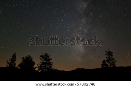 Milky Way from Tioga Road - stock photo