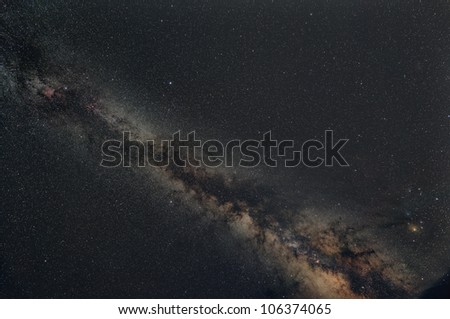 Milky way galaxy - stock photo