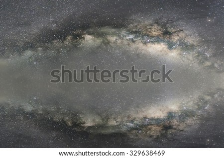 Milky way galaxy refection. - stock photo