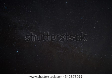 Milky way galaxy with Bright Stars  and space dust  - stock photo