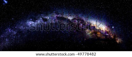 Milky Way in Antarctica - stock photo