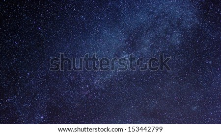 Milky way in night sky - stock photo