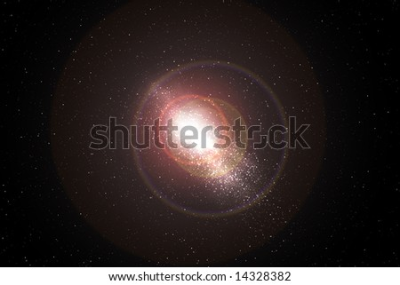 milky way in outer space - stock photo