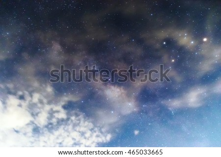 Milky Way in the night sky,(Background blur)