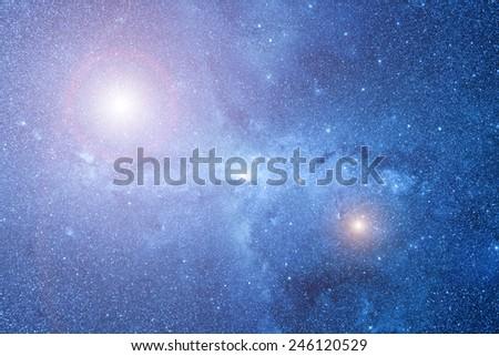 Milky way nebulosity. - stock photo