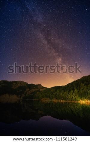 Milky Way on - stock photo