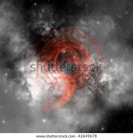 MILKY WAY - Part of the Milky Way Galaxy with its milky white stars and clouds. - stock photo