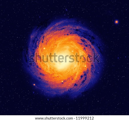 Milky way possible outside appearance - stock photo