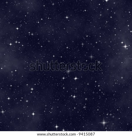 milky way starfield background with small stars - stock photo