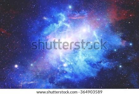 Milky way stars and star-dust in deep space / cosmos. My astronomy - composite work. No elements of NASA or other third party. - stock photo