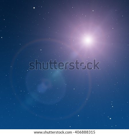 Milky way stars and star-dust in deep space / cosmos.  No elements of NASA or other third party. - stock photo