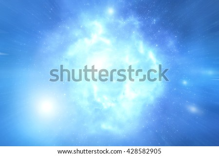 Milky way stars and star-dust in deep space / cosmos. No elements of NASA or other third party. My astronomy work. - stock photo