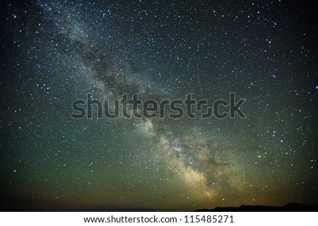 Milky way stars at night - stock photo