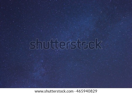 Milky Way stars in clear night sky