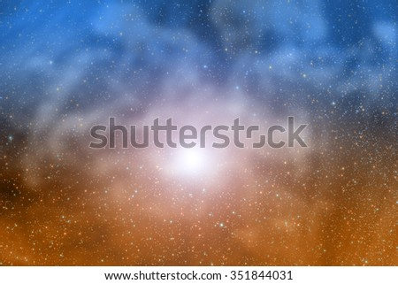 Milky way stars. My astronomy work. No elements of NASA or other third party. - stock photo