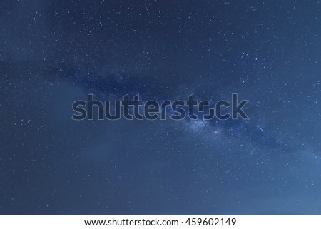 milkyway and blue sky