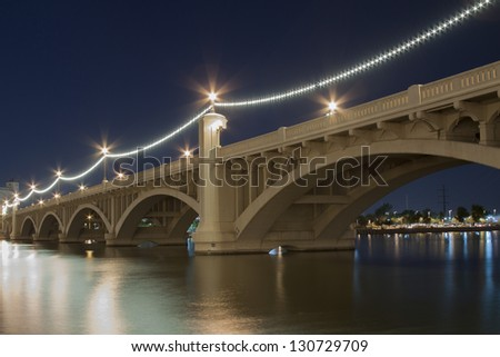 Mill Avenue Bridge in Tempe, Arizona - stock photo
