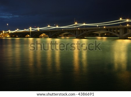 mill avenue bridges in tempe arizona - stock photo