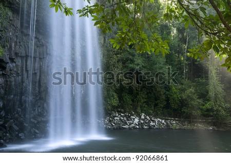 Milla Milla Falls, Atherton Tablelands near Cairns, Queensland, Australia - stock photo