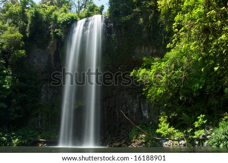 Milla Milla Falls near Cairns in the Atherton Tablelands. - stock photo