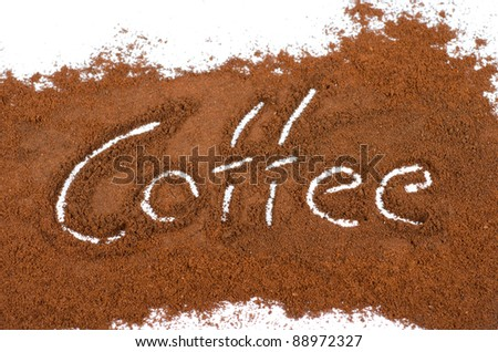 milled coffee sign on a white background - stock photo