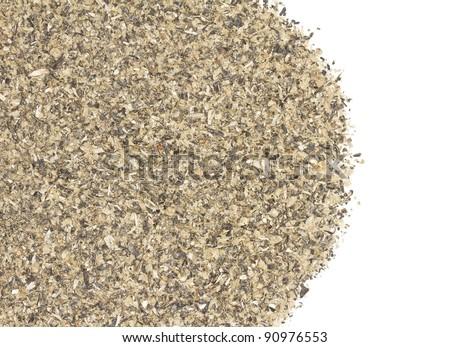 Milled sunflower pellets - stock photo