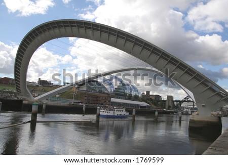 Gateshead Millenium Bridge Stock Photos, Royalty-Free Images ...