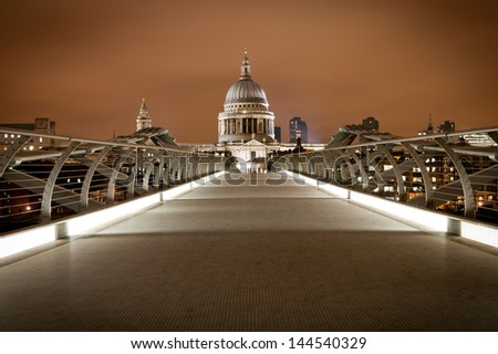 Millennium Bridge London - stock photo