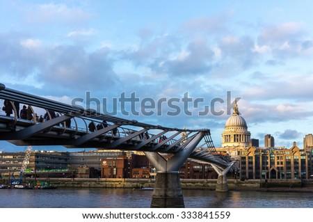 Millennium Bridge, London - stock photo