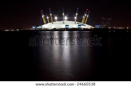 Millennium Dome at night - stock photo
