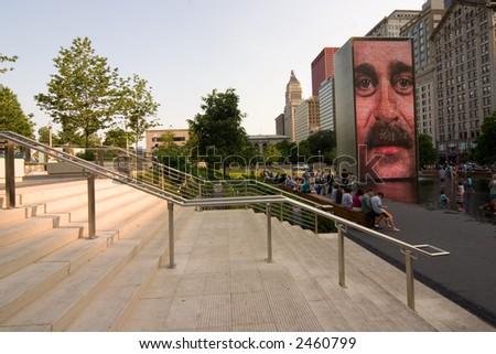 Millennium Park at daylight, Chicago, IL - stock photo
