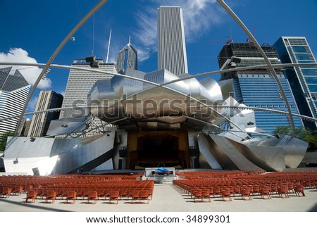 Millennium Park, Chicago, Illinois - stock photo