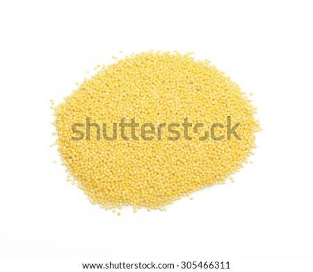 millet for background and texture. Barley cereal. Top view. - stock photo