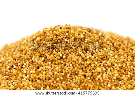 millet on a white background