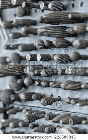 Milling cutters with clipping path - stock photo