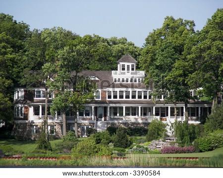 Million dollar mansion - stock photo